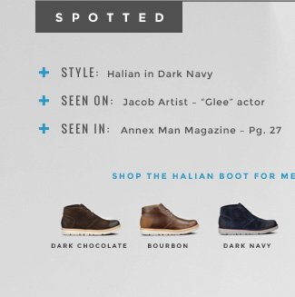 SPOTTED. SHOP THE HALIAN BOOT FOR MEN.