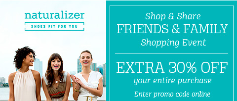 shop & share friends & family shopping event