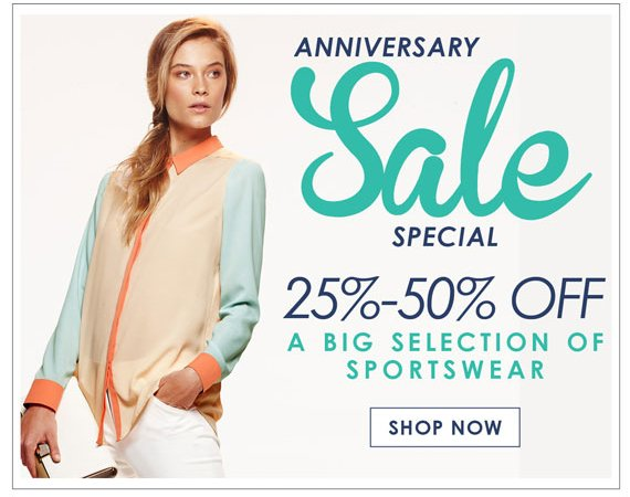 Annivesary Sale Special 25%-50% Off A Big Selection Of Sportswear. Shop Now