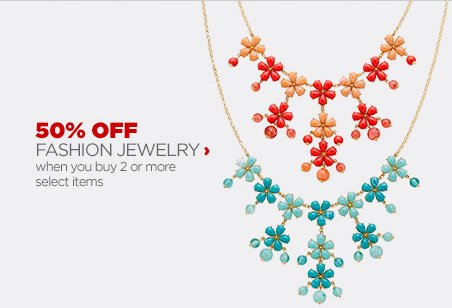 50% OFF FASHION JEWELRY | when you buy 2 or more select items
