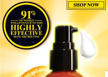 91% OF WOMEN WOULD SWITCH TO THIS HIGHLY EFFECTIVE SKINCARE ROUTINE | SHOP NOW