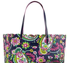 Scalloped Tote in Petal Paisley