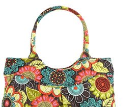 Pleated Shoulder Bag in Flower Shower