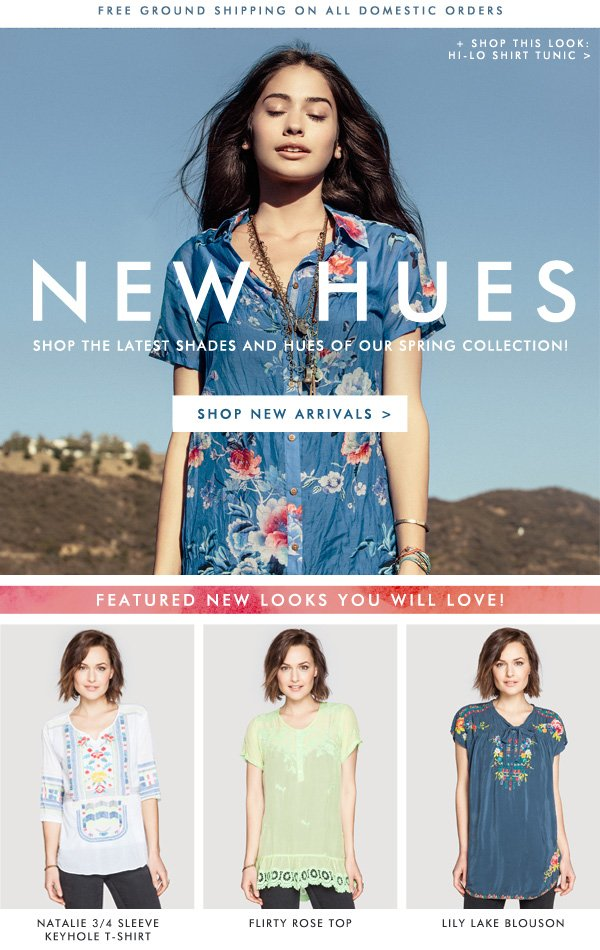 New Hues - Click to Shop our Spring Collection