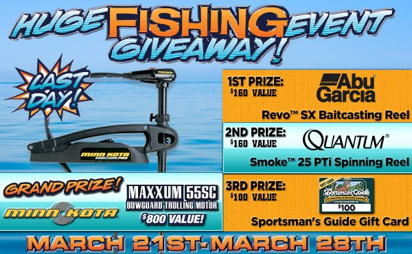 Sportsman's Guide's Huge Fishing Event Giveaway!