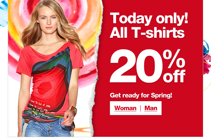 All T-shirts 20% off