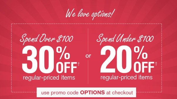Enjoy 30% Off When You Spend $100+!