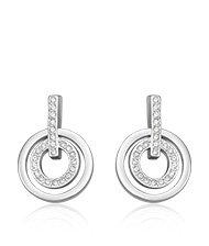 Circle Crystal Pierced Earrings