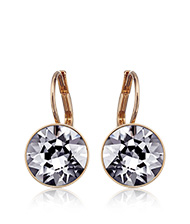 Bella Mini Silver Night Pierced Earrings, rose gold-plated