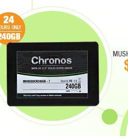 "Mushkin Enhanced Chronos 2.5"" 240GB SATA III 7mm Internal Solid State Drive (SSD)"
