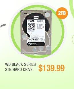 """WD BLACK SERIES 2TB 7200 RPM 64MB Cache SATA 6.0Gb/s 3.5"""" Internal HDD"""