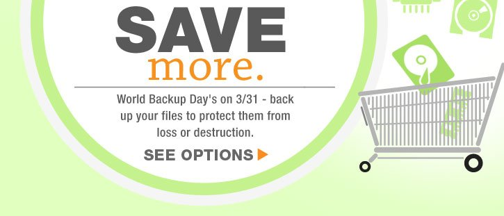 World Backup Day's on 3/31 - back up your files to protect them from loss or destruction.