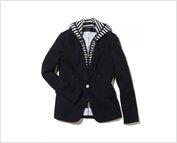 Exclusive Blazer With Stripe Dickey