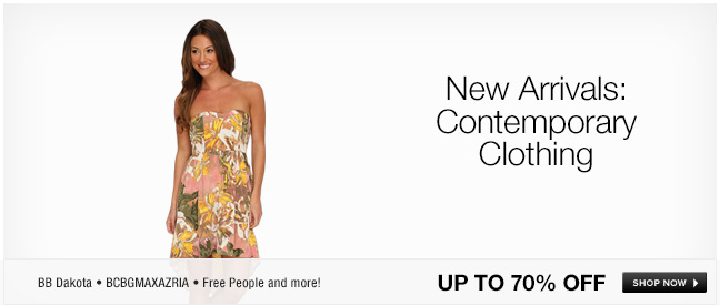 New Arrivals: Contemporary Clothing