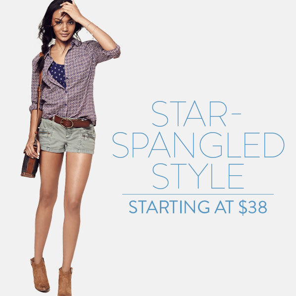 STAR-SPANGLED STYLE - STARTING AT $38