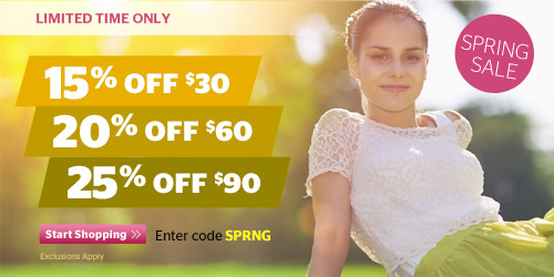 Spring Sale! Up to 25% Off Your Order