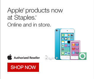Apple products now at Staples.* Online and in store. Authorized Reseller. Shop now.