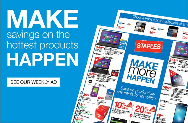 Make savings on the hottest products happen. See our weekly ad.
