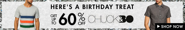 Get up to 60% off Chuck & Bo!
