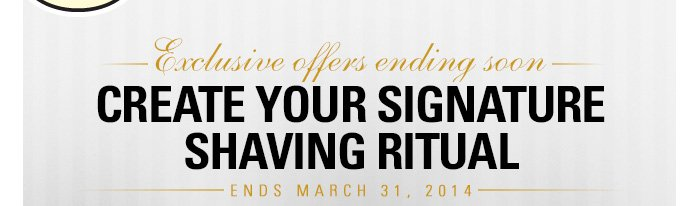 Exclusive Offers Ending March 31 2014