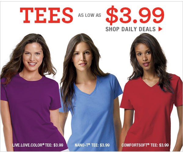 Daily Deals: Tees as low as $3.99
