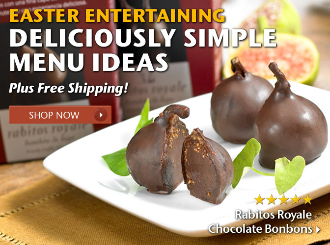 Easter Entertaining - Deliciously Simple Menu Ideas - Plus Free Shipping! 5 Star Rated - Rabitos Royale Chocolate Bonbons