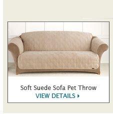 Soft Suede Pet Throw