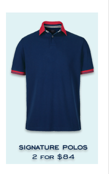 SIGNATURE POLOS 2 FOR $84
