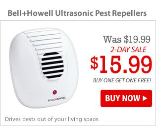 Bell+Howell Ultrasonic Pest Repellers - 2 Pack