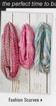 It's the perfect time to buy new spring arrivals: Shop fashion scarves.
