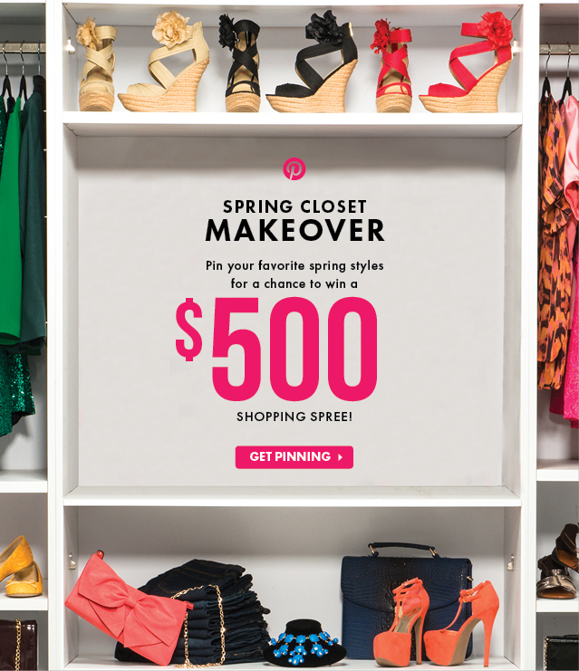 Spring Closet Makeover - Pin For A Chance To Win A $500 Shopping Spree - Get Pinning