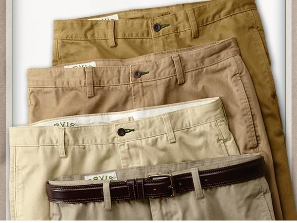 Right now, buy 2 pairs of Ultimate Khakis, save $47.