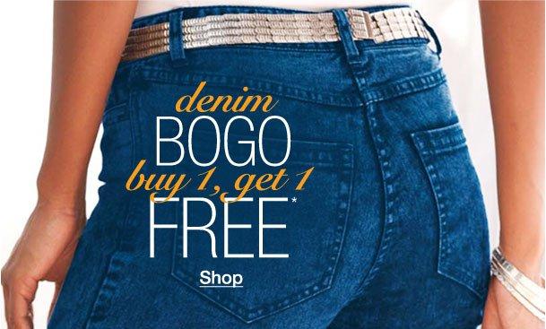 Denim BOGO! Buy 1, Get 1 Free!