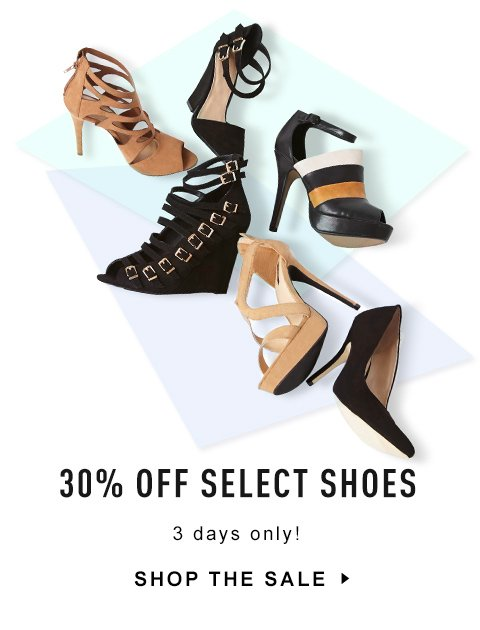 30% Off Select Shoes