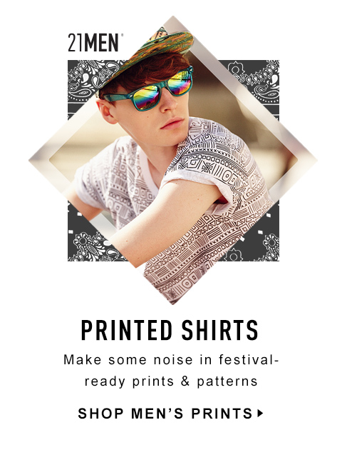 Shop Men's Prints! Make Some Noise in Festival-ready Prints & Patterns
