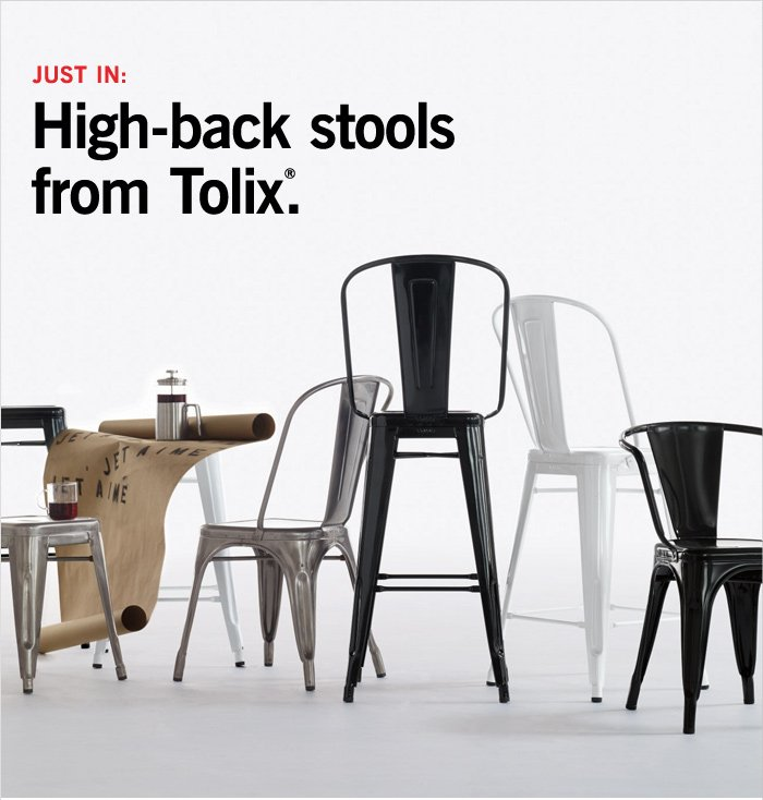 JUST IN: High-back stools from Tolix®.