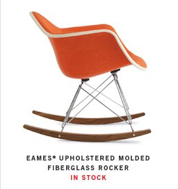 EAMES® UPHOLSTERED MOLDED FIBERGLASS ROCKER IN STOCK