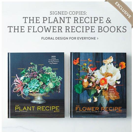 Plant & Flower Recipe Books