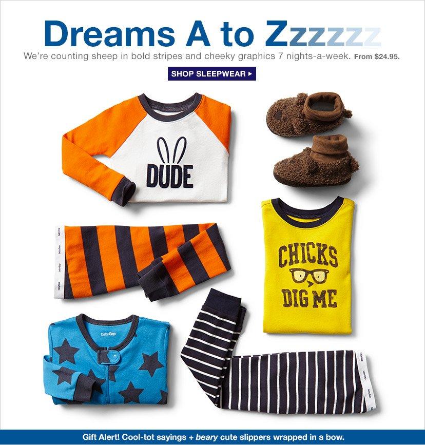 Dreams A to Zzzzzz | SHOP SLEEPWEAR