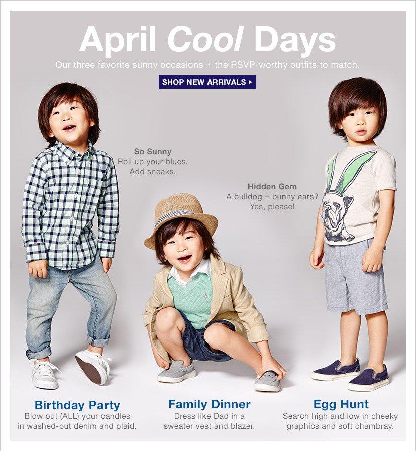 April Cool Days | SHOP NEW ARRIVALS