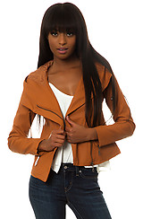 The Reboot Vegan Leather Jacket in Camel