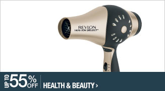 Up to 55% off Health & Beauty