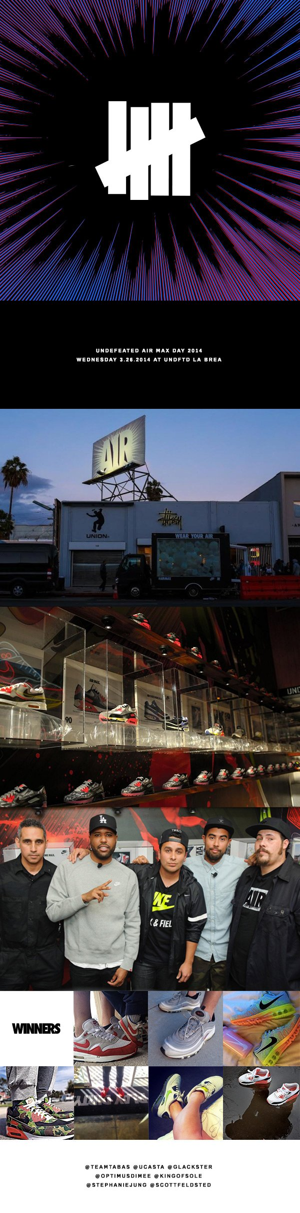 Undefeated Air Max Day 2014 / Wednesday 3.26.2014 at UNDFTD La Brea