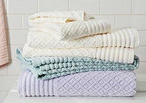 Plush Bath Towels by Espalma