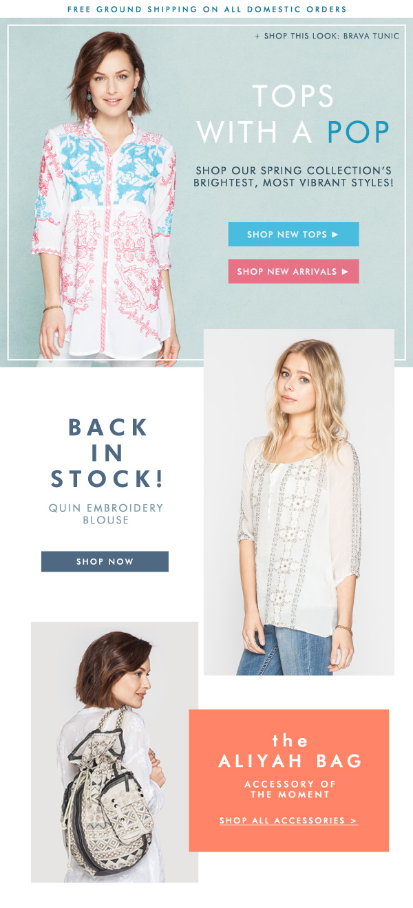 Tops with a Pop: Shop New Tops