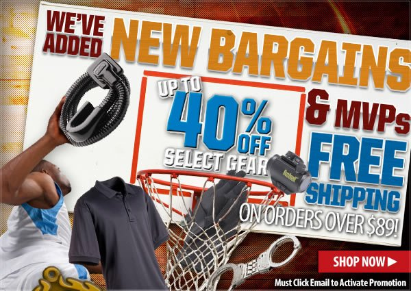 Save Up To 40 percent On Select Gear + Free Shipping On Orders Of 89 dollars or More