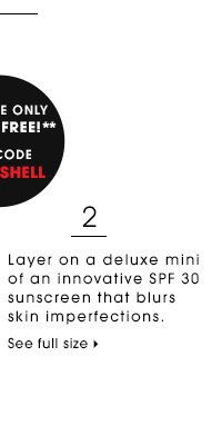 Layer on a deluxe mini of an innovative SPF 30 sunscreen that blurs skin imperfections. Online only. Try it free! Use code BOMBSHELL** Dermadoctor Brazilian BOMBSHELL Skin Perfecting Body Lotion SPF 30 deluxe sample SEE FULL SIZE