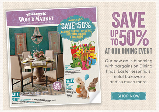 Our Ad is here! Save up to 50% at Dining Event and more