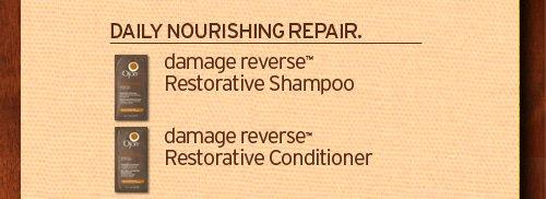 DAILY NOURISHING REPAIR damage reverse Restorative Shampoo and damage reverse Restorative Conditioner