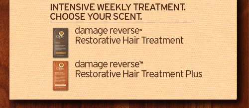 INTENSIVE WEEKLY TREATMENT CHOOSE YOUR SCENT damage reverse Restorative Hair Treatment and damage reverse restorative Hair Treatment Plus
